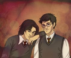 Padfoot and Prongs by ggns.deviantart.com on @deviantART