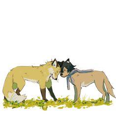 Ame & sensei // Wolf Children
