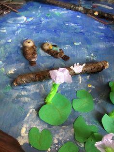 River otters diorama