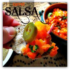 Spicy Carrot-Mango Salsa -- Yum! Among other recipes...  Vegan, Gluten Free, Paleo