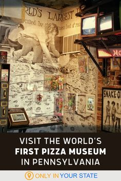 Pizza lovers, you'll want to add this Pennsylvania pizzeria and pizza museum to your bucket list. Not only does this dining spot have some of the best pies around, they are packed with pizza related books, games, music, memorabilia, and more. Pizza Brain, Guinness Book, Hidden Beach, Roadside Attractions, World Records, First World, Travel Usa, Pennsylvania, Travel Destinations