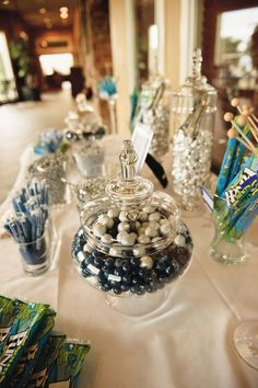 Gorgeous shot/angle of the candy buffet...