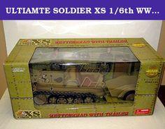 "ULTIAMTE SOLDIER XS 1/6th WW2 GERMAN KETTENKRAD W/TRL & 2 FIGURES. Box dimensions are approx 31"" x 14"" x 13.5""."