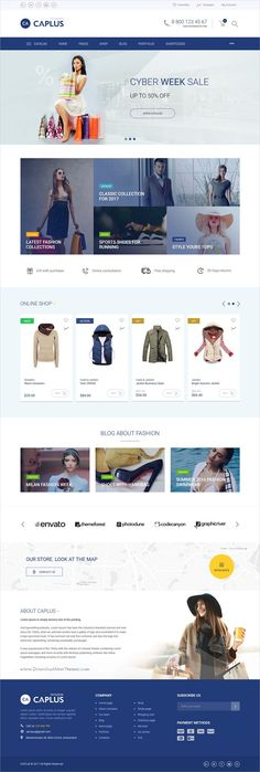 Caplus is clean and modern design 5in1 responsive #HTML5 template for multipurpose #fashion store #eCommerce website download now..