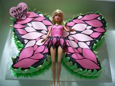 Wunderbare DIY Easy Marshmallow Fondant – Barbie-Schmetterlingskuchen Tolle Ide… – Well come To My Web Site come Here Brom Marshmallow Fondant, Barbie Torte, Bolo Barbie, Barbie Doll, Butterfly Cakes, Butterfly Birthday, Diy Butterfly, Butterflies, Rainbow Butterfly