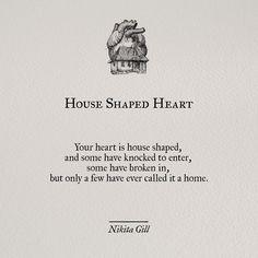 """House Shaped Heart""--cool tattoo idea"