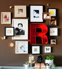 Eu vivo com arte!!!: Letras na decoração....