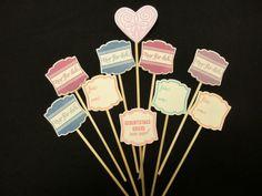 Dekoration - Muffin / Cupcake Stecker Topper Deko 10 Stück - ein Designerstück von kreativesherzerl bei DaWanda
