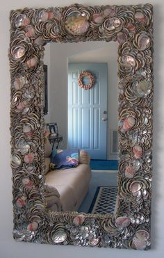 I have been in love with shell mirrors ever since I saw one in a magazine a few years ago!  As some of you may not know, I am originally fro...