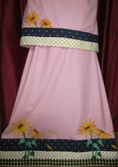 Orchid Pink rida designed using panels, fence and hand painted sunflowers making it an ideal summer wear !