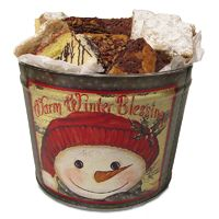16 pc Brownie and Crumb Cake Tin: Warm Winter Blessings
