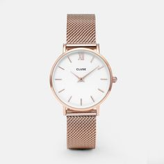 Minuit Mesh Rose Gold/White