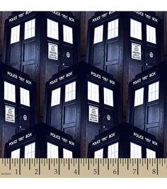 Doctor Who Tardis Cotton Fabric