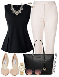 Plus Size Mini Capsule Wardrobe – Alexa Webb – Business professional outfits for interview Business Professional Outfits, Professional Attire, Business Fashion, Plus Size Business Attire, Business Formal, Business Casual, Mode Outfits, Fashion Outfits, Womens Fashion