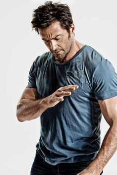 """An unlikely poster boy for meditation, Wolverine star Hugh Jackman revealed in the latest issue of Men's Health that meditation """"changed his life."""" The August issue of the magazine features Hugh Jackman, Hugh Michael Jackman, Gorgeous Men, Beautiful People, Hugh Wolverine, Films Cinema, Look Man, Raining Men, Man Crush"""
