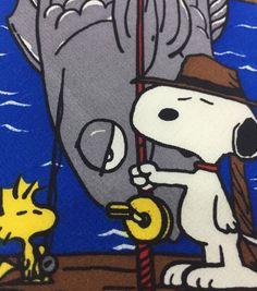 Snoopy Friends Necktie Silk Worlds Greatest Fisherman Peanuts Charlie Brown USA #SnoopyFriends #NeckTie