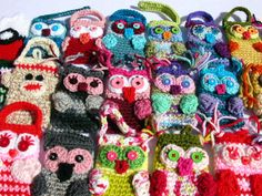 You Design Your Owl Pouch for Cell Phone or Camera (Crochet Cozy, Case, Cover, Holder)