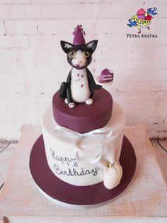 Kitty with a piece of cake - Cake by Petra Krátká