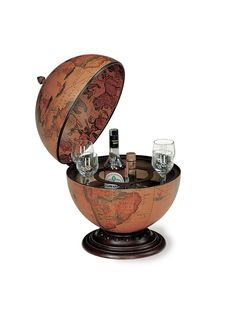 Globe Bar Desk Brown
