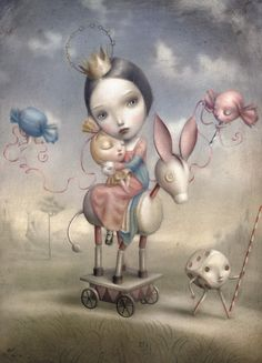 Surrealist Fairy Tale Illustrations by Nicoletta Ceccoli Mark Ryden, Art Pop, Arte Lowbrow, Art Fantaisiste, Whimsical Art, Surreal Art, Fantasy Art, Fairy Tales, Illustration Art