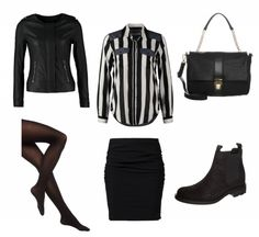 #Frühlingoutfit Das elegante Schwarz ♥ #outfit #Damenoutfit #outfitdestages #dresslove