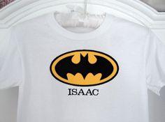 Personalized Batman Shirt  Custom Boutique Boy Batman Superhero Name Tee Shirt on Etsy, $21.00