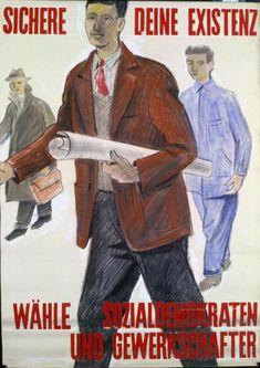 Le système politique suisse, avec ses élections au niveau communal, cantonal et fédéral, procure de nombreuses opportunités de mise en scène du monde ouvrier. On le retrouve donc fréquemment sur les affiches liées au Parti socialiste et au Parti du travail et parfois aussi, même si elles sont plus rares, du côté de la droite et de l'extrême-droite, en particulier dans l'entre-deux-guerres. Movie Posters, Fictional Characters, Vintage, Political System, Staging, Switzerland, Posters, World, Film Poster