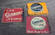 Gibbons Beer Signs