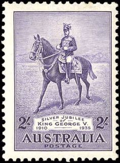 Australia 1935 - King George V Silver Jubilee - Perforation Watermark. Decimal, Postage Stamp Collection, Commemorative Stamps, Rare Stamps, Stamp Printing, King George, Mail Art, Stamp Collecting, Postage Stamps