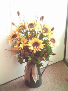 Sunflower Arrangement / Primitive Sunflower by imaproudcrafter, $45.00