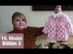 Diy Crafts - Diy Crafts - performing,skewers-Baby Cardigan with Skewers Performing Full Turkish 5 Part Video Cardigan Bebe, Knitted Baby Cardigan, Baby Pullover, Knitting Videos, Crochet Videos, Baby Sweaters, Girls Sweaters, Crochet For Kids, Knit Crochet