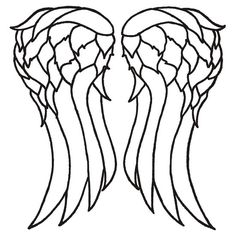 daryl dixon wings template - Google Search