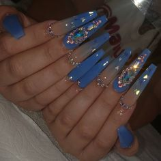 Bling Acrylic Nails, Drip Nails, Simple Acrylic Nails, Aycrlic Nails, Summer Acrylic Nails, Best Acrylic Nails, Rhinestone Nails, Swag Nails, Cute Nails