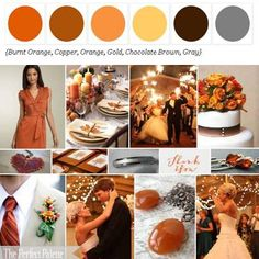 Shades of Orange Orange, Copper, Yellow, Chocolate + Gray