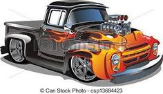 Image result for illustrations of hot rods