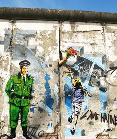 Urban Street Art: ABOVE Takes on the Berlin Wall (6 pics) - My Modern Metropolis #above #streetart