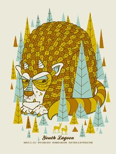 YOUTH LAGOON BEAST « Limited Edition Gig Posters « Methane Studios — Designspiration