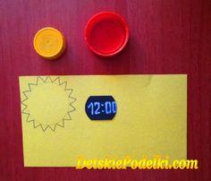 Как сделать бумажные часики.