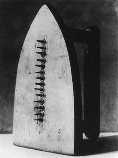Gift (Cadeau) - Man Ray - 1921 - Dadaism/Surrealism - Flat Iron with Brass Tacks: According to Man Ray this object was made in a spurt of inspiration, the day of the exhibition. He has used an everyday old fashioned iron, attached 14 tacks to its surface. It is now a ready made assisted object. A normal object has been transformed into something threatening, therefore it can relate to the violence of war going on at the time, showing how something normal e.g. humans can turn violent during…