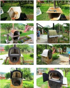 From an old bath tub t outdoor oven! From an old bath tub t outdoor oven! Diy Pizza Oven, Pizza Oven Outdoor, Outdoor Cooking, Garden Bathtub, Old Bathtub, Bath Tub, Bathtub Ideas, Backyard Projects, Outdoor Projects