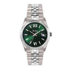 Γυναικείο luxury & καθημερινό ρολόι JCou JU19038-3 Queens II με ημερομηνία, πράσινο καντράν και μπρασελέ   Γυναικεία ρολόγια JCou ΤΣΑΛΔΑΡΗΣ στο Χαλάνδρι #jcou #Queen'sII #μπρασελε #tsaldaris Queen Ii, Rolex Watches, Steel, Luxury, Bracelets, Board, Accessories, Bangle Bracelets, Bracelet