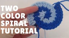 Two Color Double Crochet Spiral Tutorial