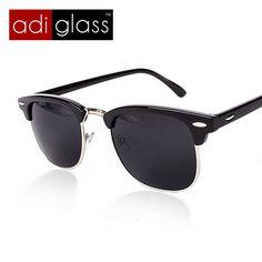 3513b91f36 Encontrar Más Gafas de Sol Información acerca de Adiglass Brand Classic  medio Metal Gafas De Sol
