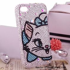 Lovely Cute Marie Cat Swarovski Crystal Cases iPhone Cases for iPhone 4 4S