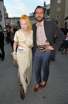 Vivienne Westwood and Andreas Kronthaler attend the Premiere of Cosi Fan Tutte at the Haus fuer Mozart on August 5, 2011 in Salzburg, Austria.