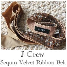 J Crew Velvet Sequin Ribbon Belt Lovely J Crew velvet sequin ribbon belt. Add a little bling to your winter wardrobe! J. Crew Accessories Belts