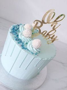 Jace – Babyparty – - All You Need To Know About Baby Shower Baby Boy Christening Decorations, Baby Boy Christening Cake, Baby Boy Birthday Cake, Babyshower Cake Boy, Baby Shower Cakes For Boys, Baby Boy Cakes, Baby Boy Shower, Baby Showers, Drip Cakes