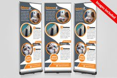Business Roll Up Banners Templates by Business Flyers on @creativemarket