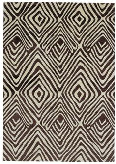 Contemporary rug / handmade / wool / patterned - TRIBAL DIAMOND by Diane Von Furstenberg - The Rug Company