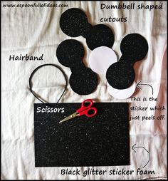Mickey & Minnie ears - http://aspoonfullofideas.com/blog/mickey-mouse-ears/